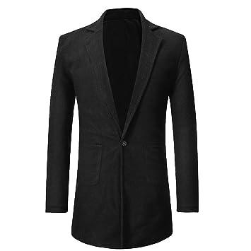 Bouton Manteau Vent Pour Chien Manches Hiver Taottao Homme Coupe Poche Chaud Solide Longues Veste qF8UXxUw