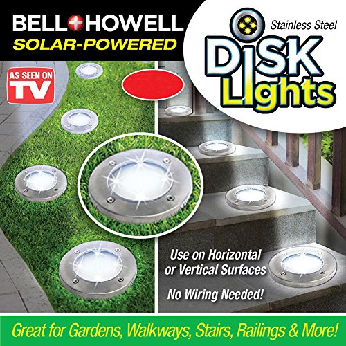 If Love Outdoor Waterproof Decorative Garden Solar LED Disk Lights for Patio Stair Outside Landscape Lamp