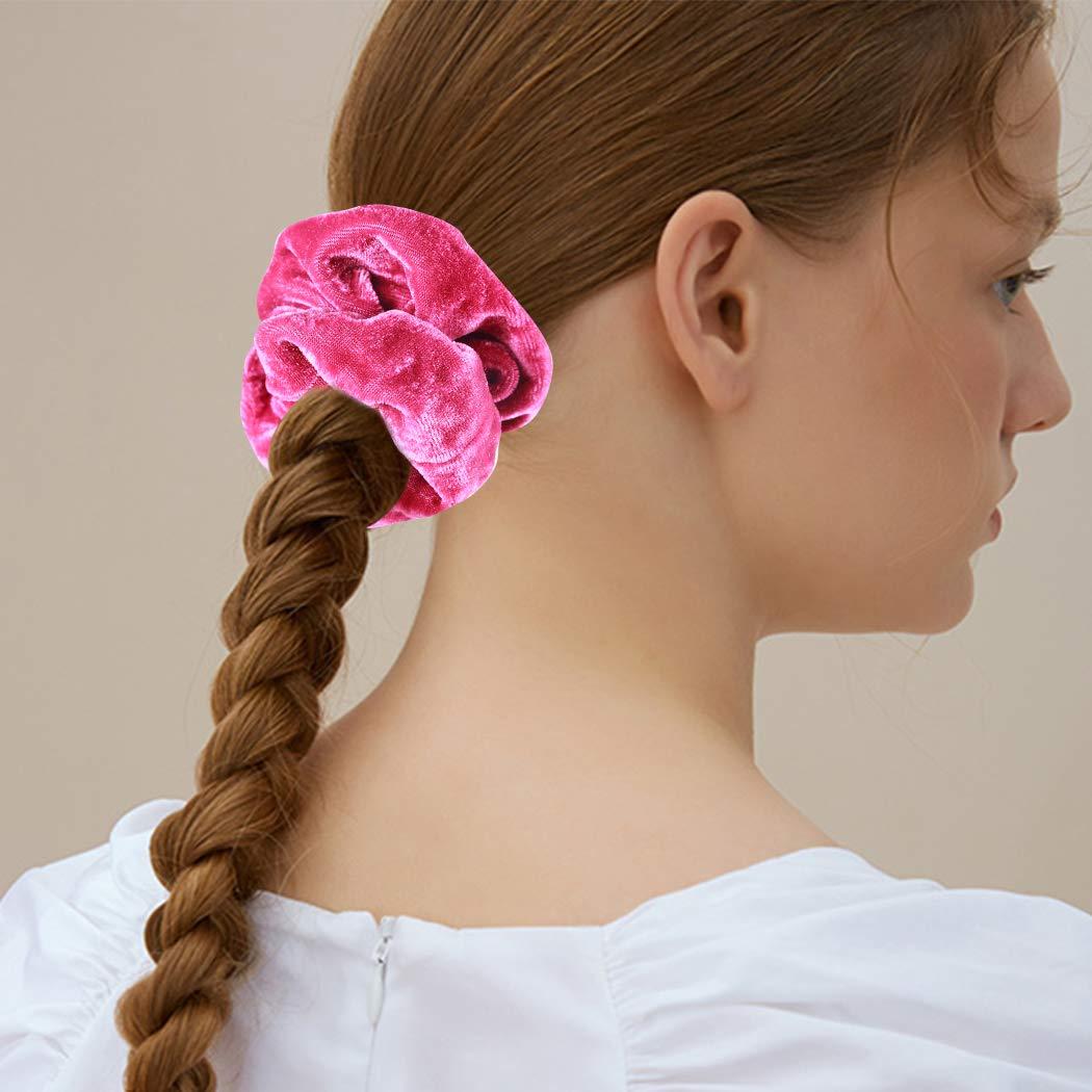Women Scrunchies Girl Elastic Sequin Hair Ring Velvet Ponytail Rope Hair Fa F4Q7