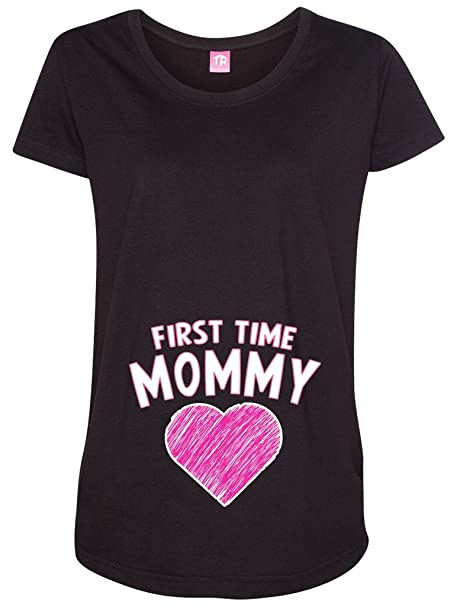13152a29463f0 Amazon.com: Threadrock Women's First Time Mommy Maternity T-Shirt ...