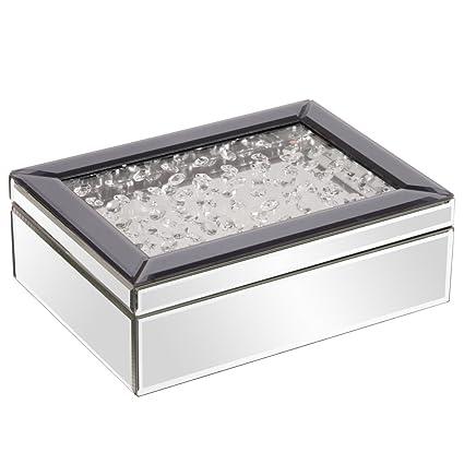 amazon com howard elliott 99053 mirrored jewelry box with jeweled