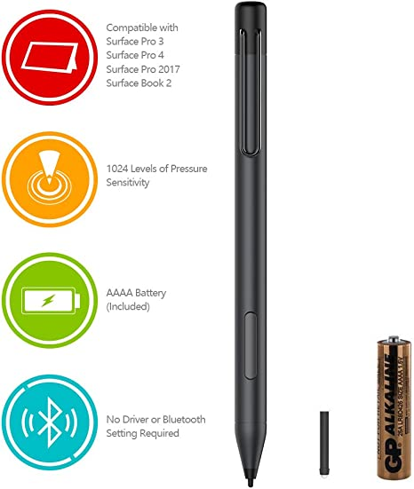 Touch Stylus Writing Drawing Pen Replacement For Microsoft Surface 3 Pro 3 Pro 4