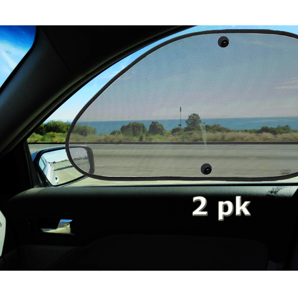 VaygWay Baby Window Sun Shade- Car Accessories Side Sun Visor- Kids Pets  Seat 2 Pk- Sun Glare UV