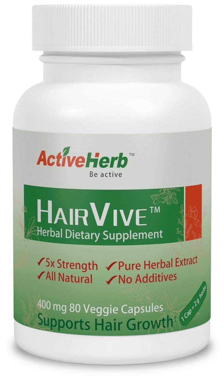 ActiveHerb HairVive Hair Growth Supplement 80 Capsules