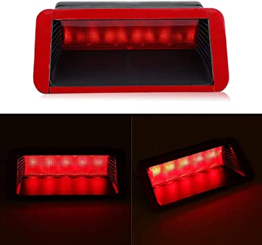 5 LED 12V Third Brake Light Keenso Universal Red Replacement Car High Mount Rear Third Brake Stop Tail Light Lamp