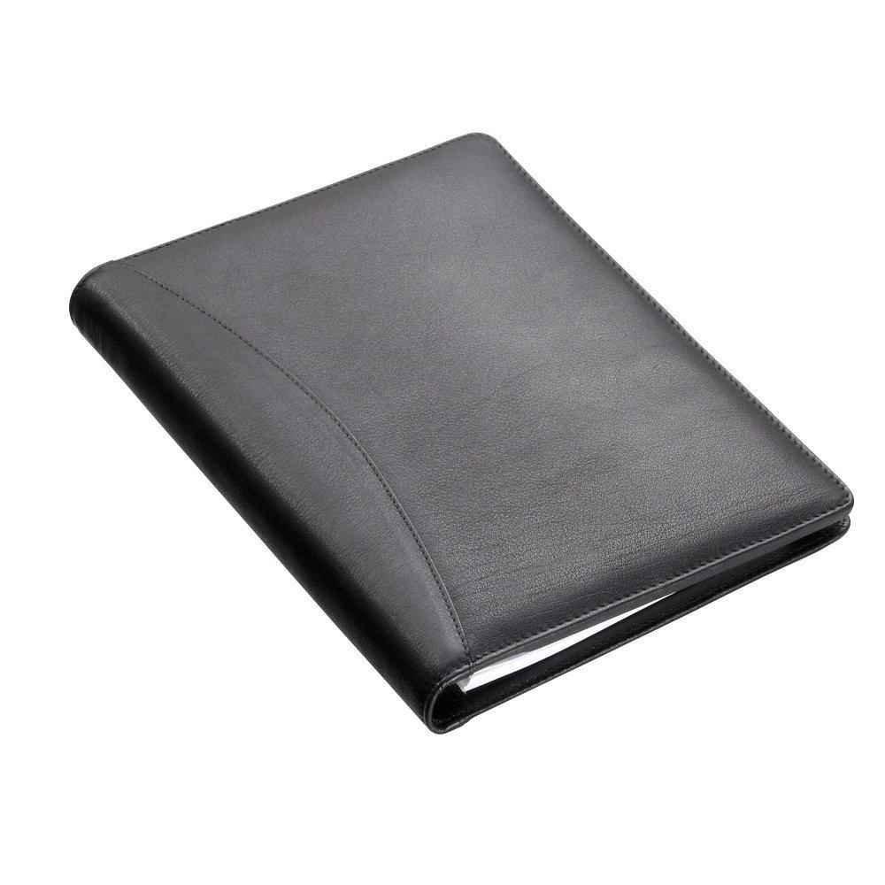Alassio Bormio 43008-1 Custodia per taccuino, formato A5, in pelle, colore: nero