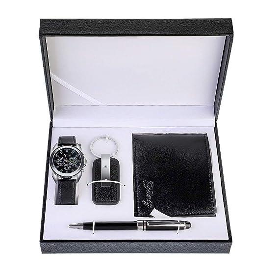 Juego de regalo para hombre Souarts con reloj de pulsera ...