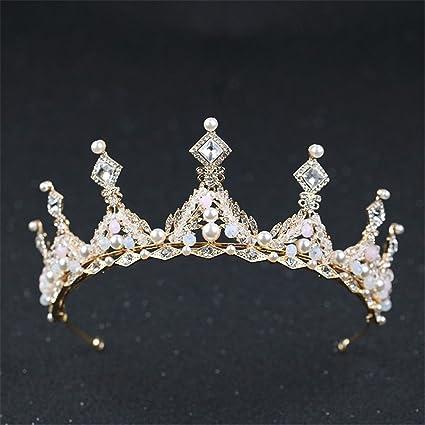 Weddwith Pelo Adornos Tocado novia de la joyería de estilo tocado corona tocado perlas al por