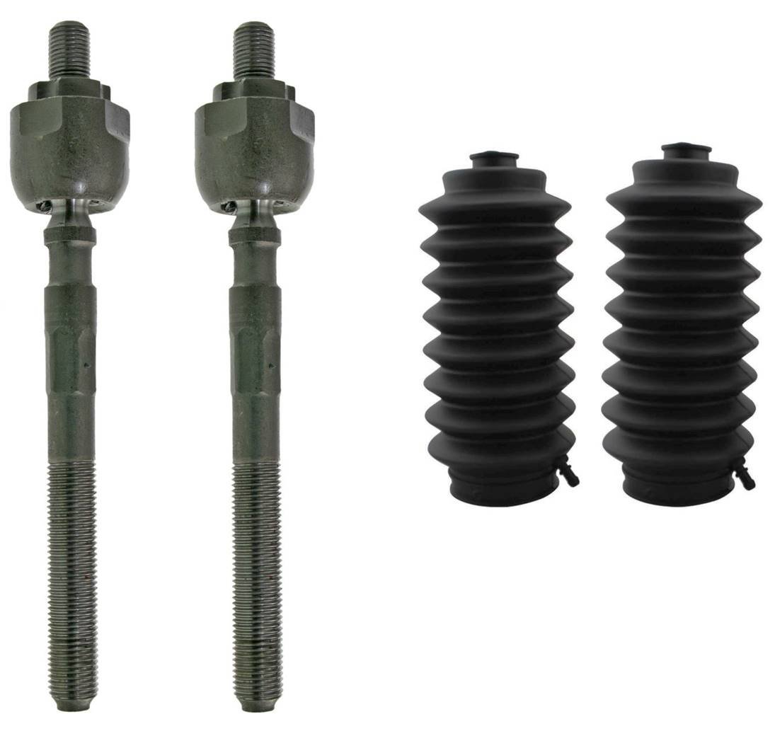 2 Rack and Pinion Boots PartsW 4 Pcs Front Inner Tie Rod Ends