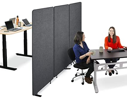 Amazon Com Stand Steady Zippanels Office Partition Room Dividers Three Zip Together Panels Provide Privacy And Reduce Ambient Noise In Workspace Classroom And Healthcare Facilities Charcoal 3 Panels Industrial Scientific