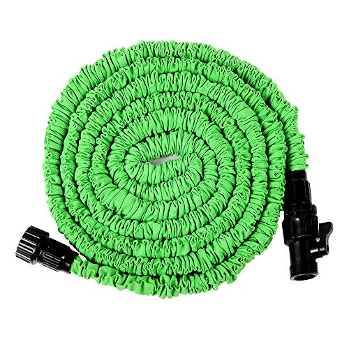 Bear Outdoor Garden Hose, Water Hose, 25ft Lightweight Expandable Garden Hose Double Latex Core, Extra Strength Fabric, Flexible Expanding Hose for Outdoor Lawn Car Watering Plants(25FT)