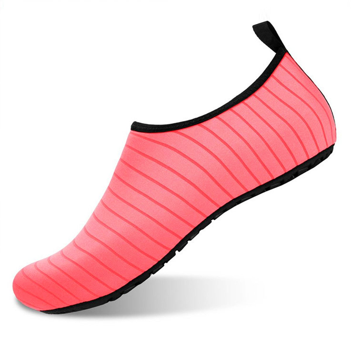 Men Women Water Shoes Quick-Dry Barefoot Aqua Socks Shoes for Swim Beach Pool Surf Yoga Sport, US Women:11-12/Men:9.5-10.5 = 10.24 in/26 cm, Pink
