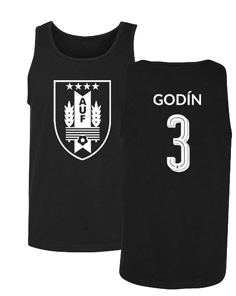 Tcamp Uruguay 2018 National Soccer  3 Diego GODIN World Championship Men s  Tank Top (Black 63d5bf6c0