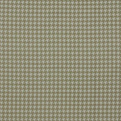 Fern Green White Houndstooth Woven Upholstery Fabric by The Yard (Upholstery Fabric Houndstooth)
