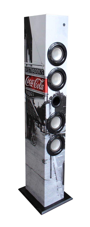 Toma USB Radio FM Toma para Tarjeta SD Toma Jack 3.5mm Mando a Distancia westbrooks Coca-Cola. Metronic 477590 Torre de Sonido Bluetooth Columna Coca Cola 64w