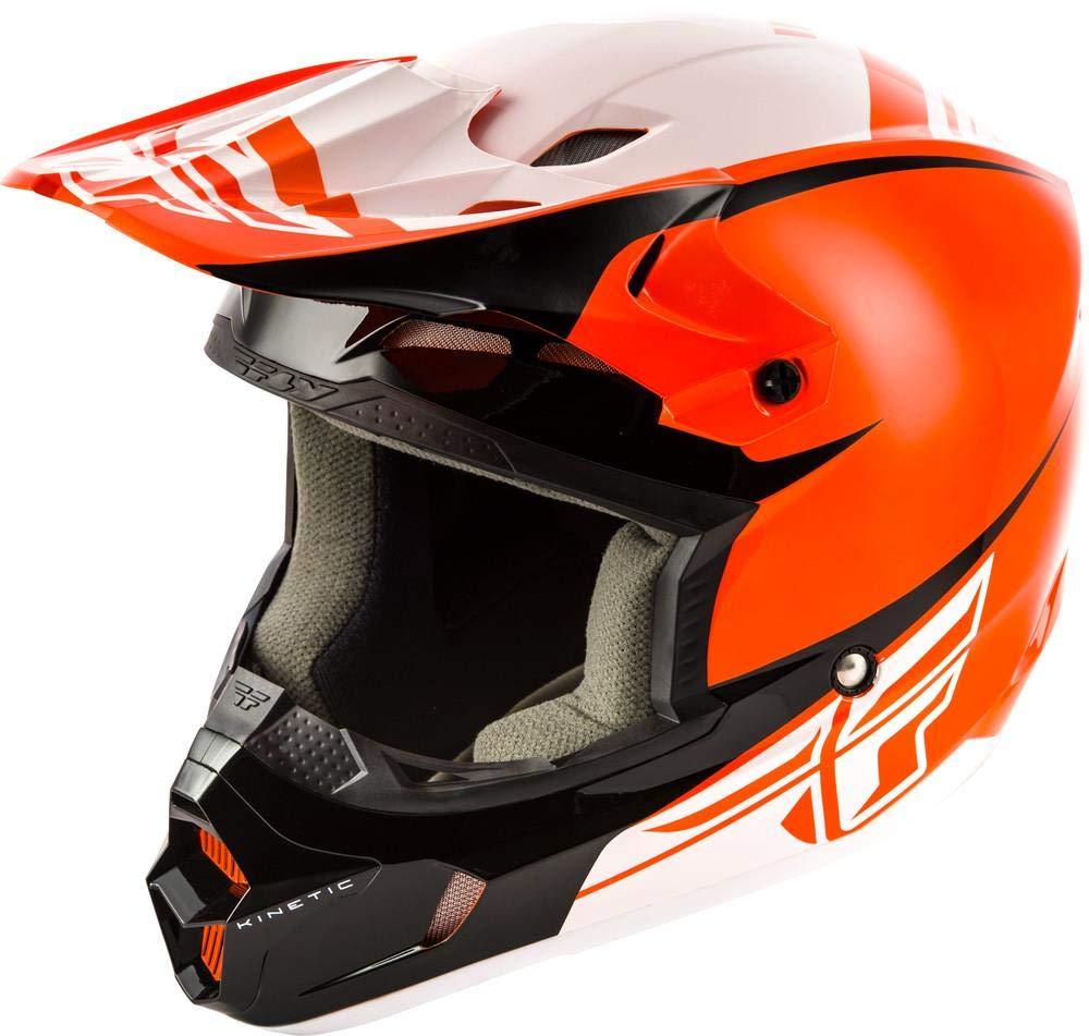 Fly Racing Helm Kinetic Sharp Orange//Schwarz
