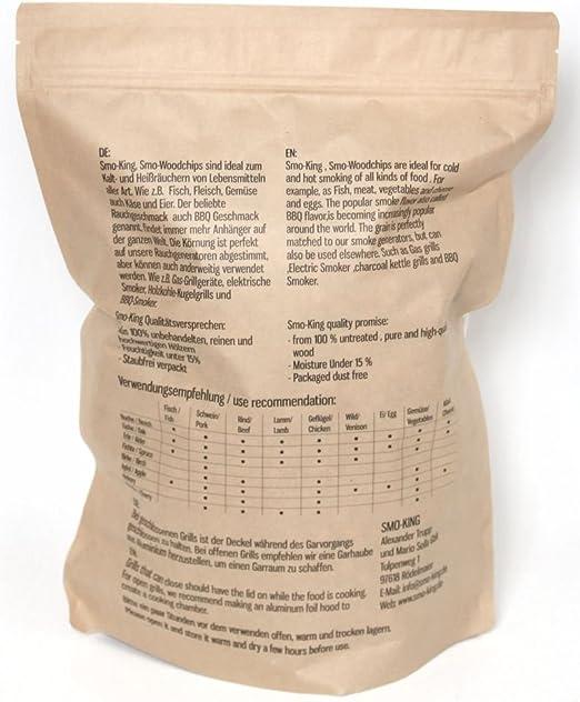SMO-Wood Chips Buche 1kg Räucherchips Räucherspäne Räuchern BBQ Smoker
