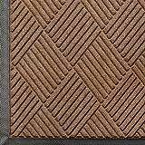 Andersen 208 WaterHog Classic Diamond Polypropylene Fiber Entrance Indoor/Outdoor Floor Mat, SBR Rubber Backing, 6' Length x 6' Width, 3/8'' Thick, Medium Brown