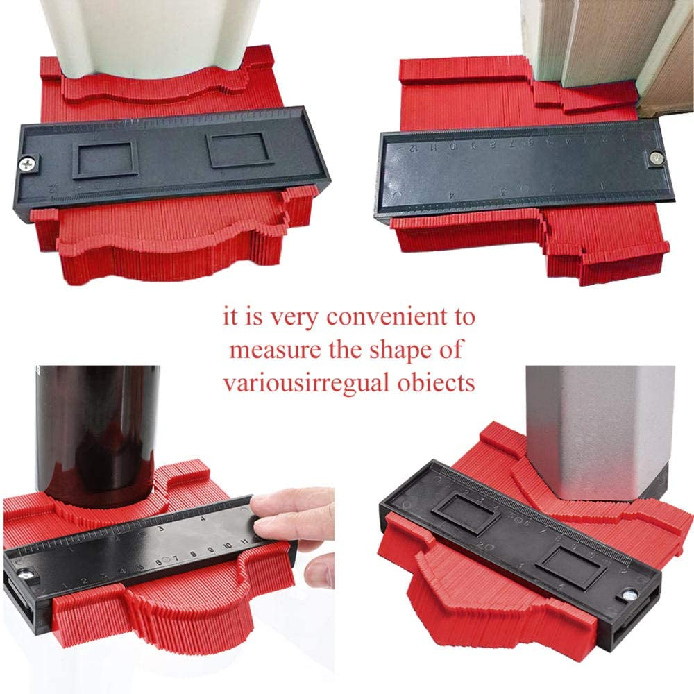 SHYSBV Gauge Contour Profile Standard Wood Marking Tool Copy Gauge Duplicator Tiling Laminate Tiles General Tools-50Cm 50cm