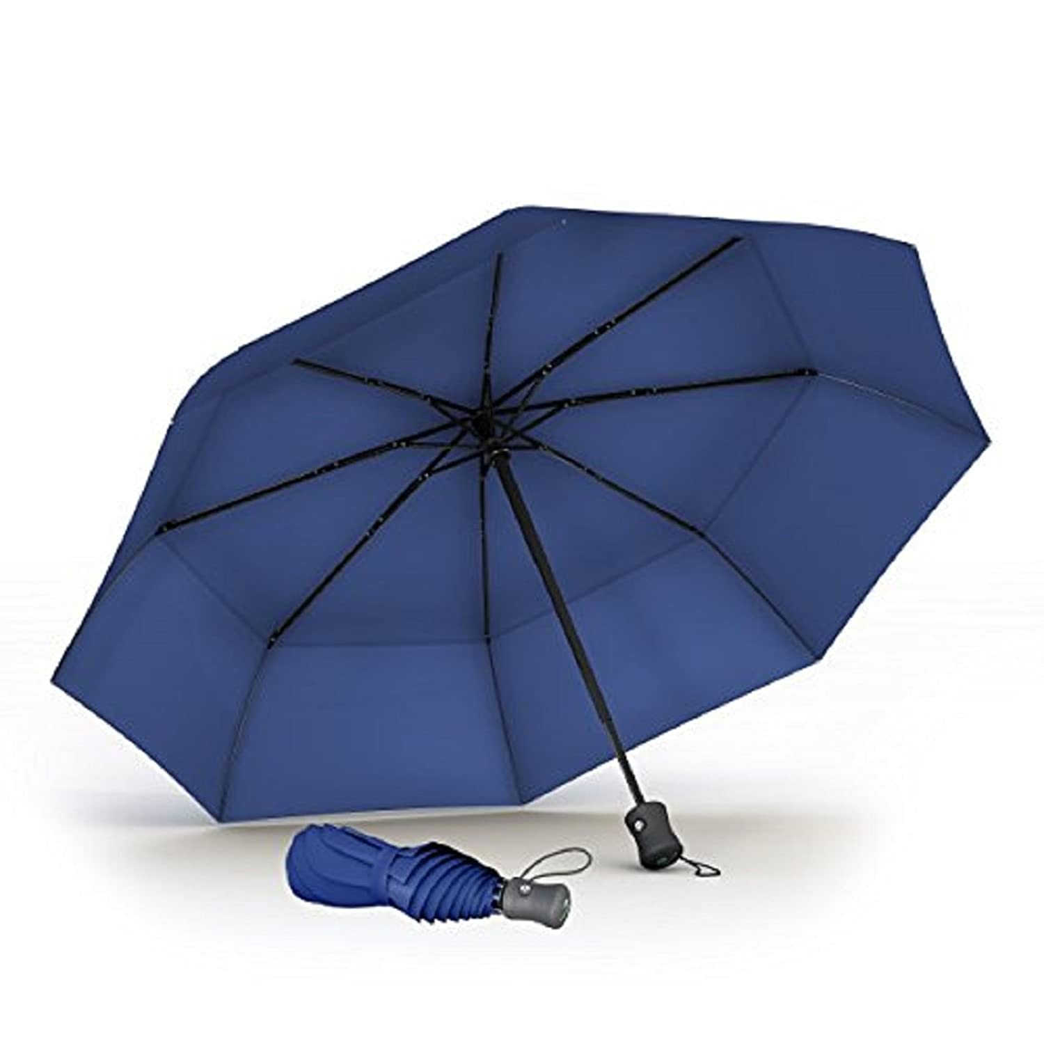 "Procella Travel Umbrella 42"" Compact Windproof Waterproof - Auto Open & Close - Foldable Umbrellas for Rain and Sun - Trusted Brand - Wind Tested in 46 MPH Winds - Virtually Unbreakable"