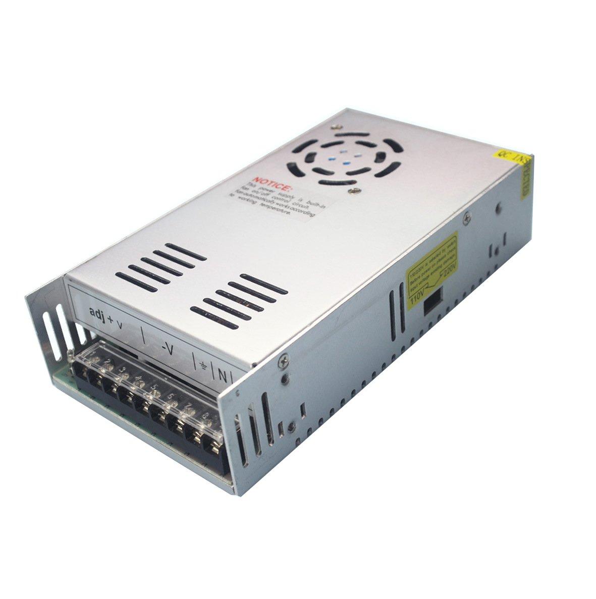 JoyNano DC36V 10A Alimentation à découpage 360W AC-DC Convertisseur Transformateur pour Machine de Frein Automatique Industriel CNC Moteur Pas-à-Pas et Plus [Version améliorée]