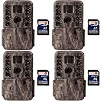 Moultrie M40i 16MP 80 Video No Glow IR Game Trail Camera + 8GB SD Card (4 Each)