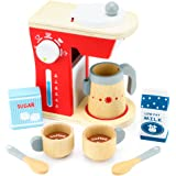 Wood Eats! Good Mornings Coffee Maker Playset with Milk and Sugar (10pcs.) by Imagination Generation