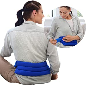 My Heating Pad Microwavable Back Pack with Full Waist Wrap | Perfect for Lower Back, Cramps, and Lumbar Pain | Natural Back Pain Relief