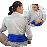 My Heating Pad Microwavable Back Pack with Full Waist Wrap | Perfect for Lower Back...