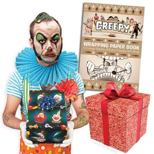 Accoutrements Creepy Wrapping Paper Book ()