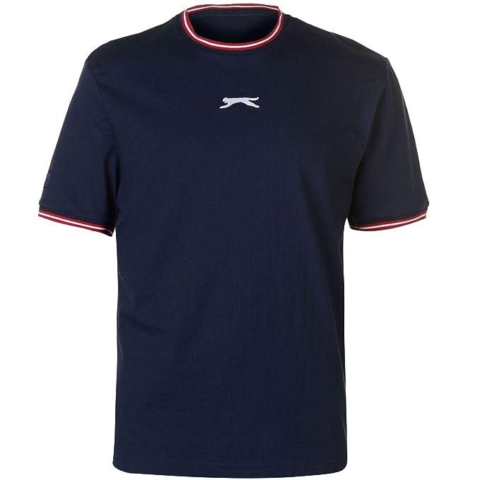 68760758916 Slazenger Mens Retro Tipped Ringer T Shirt: Amazon.co.uk: Clothing