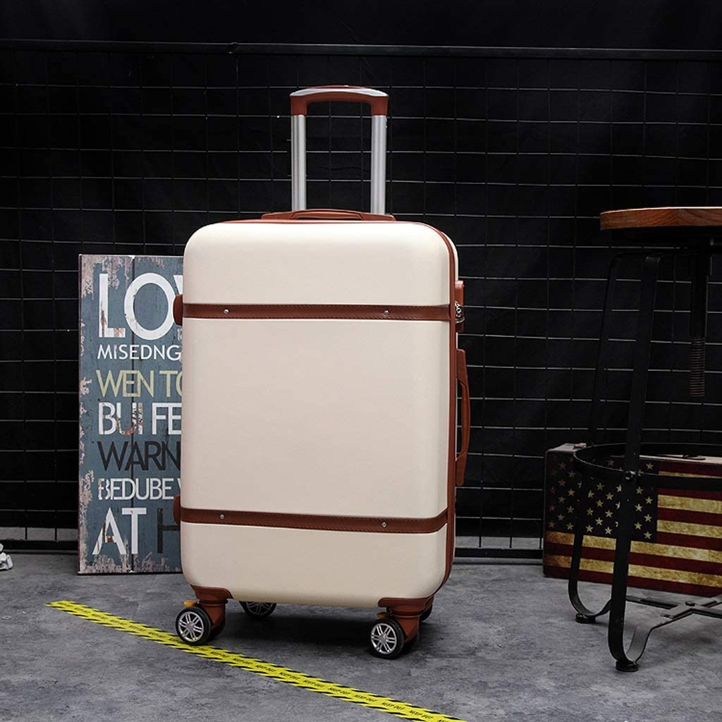 XFRJYKJ-Luggage box Luggage Small Fresh Suitcase Trolley Case College Password Suitcase Beige 20//22 Inch Size : 20inch