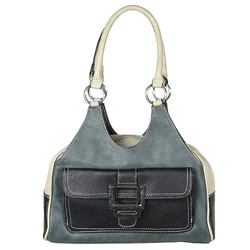 0b2751c76554 Envy Bella Womens Statement Buckle Handbag One Size Black  Amazon.co ...