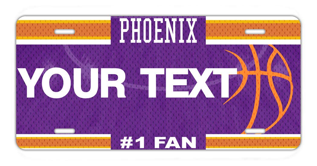 BRGiftShop Personalize Your Own Basketball Team Phoenix Car Vehicle 6x12 License Plate Auto Tag