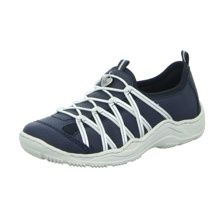 Rieker L0559, Zapatillas para Mujer 37 EU|Blue Combination (14)