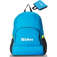 Lightweight Foldable Backpack, Water Resistant Nylon Cloth, Hiking Ultralight Small Packable Daypack, Good for Sport Travel Camping Leisure Outdoor 20L Bag, fits Men & Women, Kids & Adults- Blue