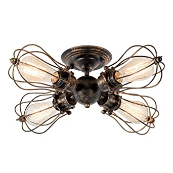Deckenleuchte Retro Metall Antik Lampe Fr Landhaus Schlafzimmer Wohnzimmer Esstisch 4L Gemlde Von