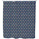 Uneekee Greetings From Bali Shower Curtain: Large Waterproof Luxurious Bathroom Design Woven Fabric