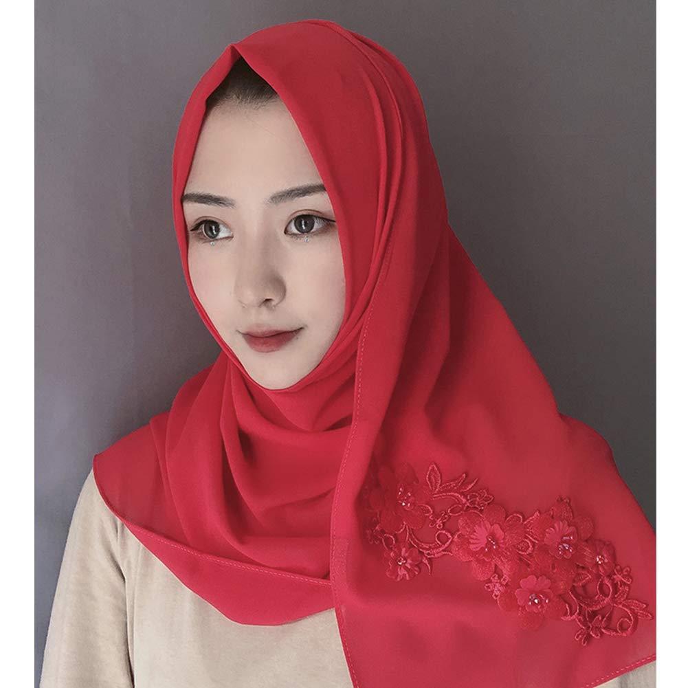 Meijunter Women Chiffon Lace Drill Muslim Hijab Arabic Hindu Jewish Full Cover Head Shawl Malaysia Headscarf Bonnet