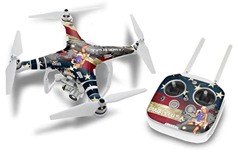 Designer skin for dji phantom 3 drone and controller battle torn stripes