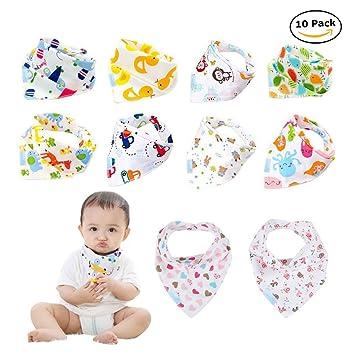 Amazon Com Labebe Baby Bib With 10 Pack Multicolor Unisex Pack B