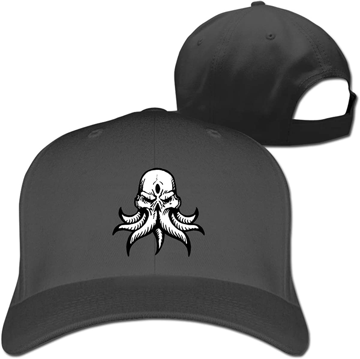Cool Cthulhu Logo Fashion Adjustable Cotton Baseball Caps Trucker Driver Hat Outdoor Cap Black