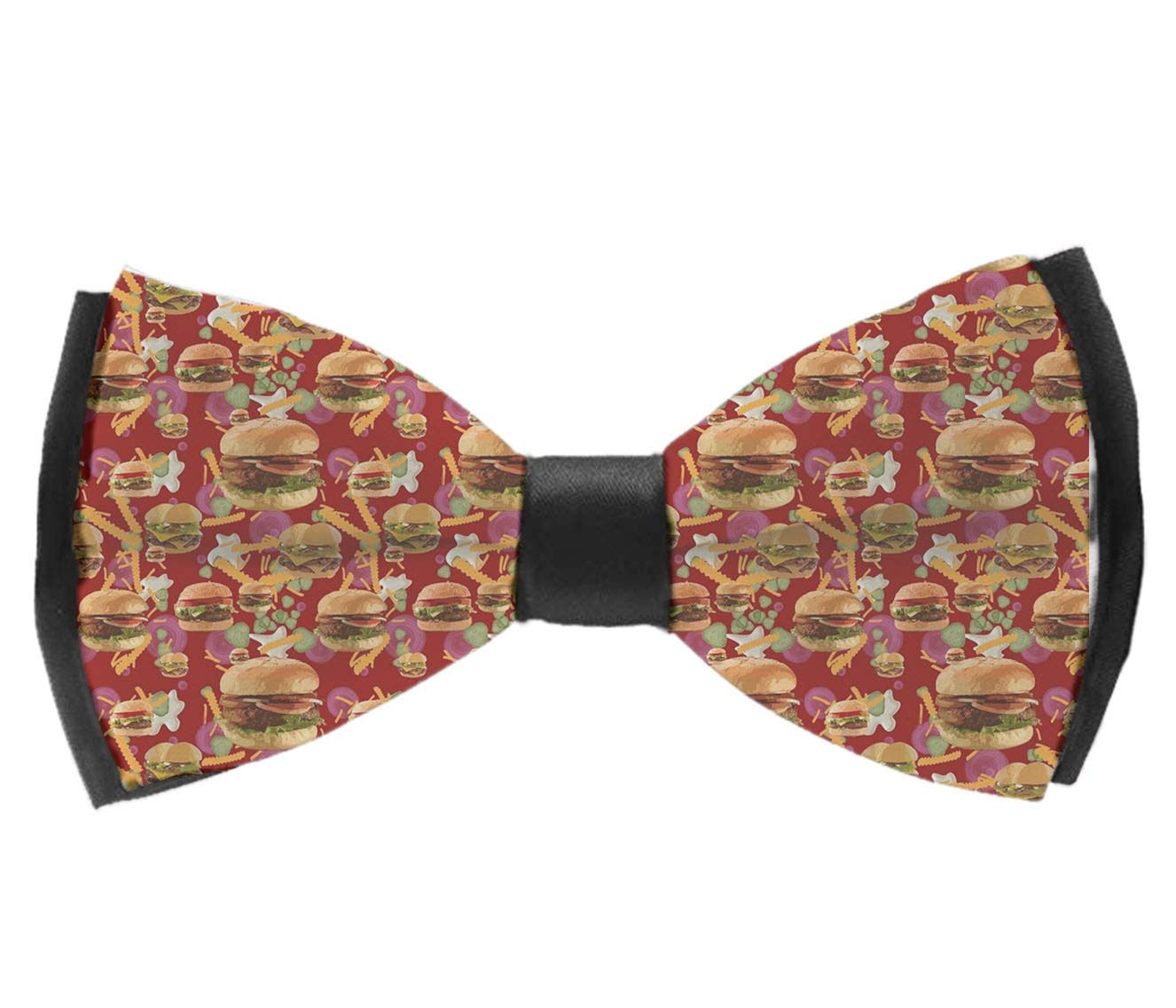 INWANZI Adjustable Length Pre-Tied Bow Tie for Men /& Boys Elegant Red Hamburgers French Fries Bowtie