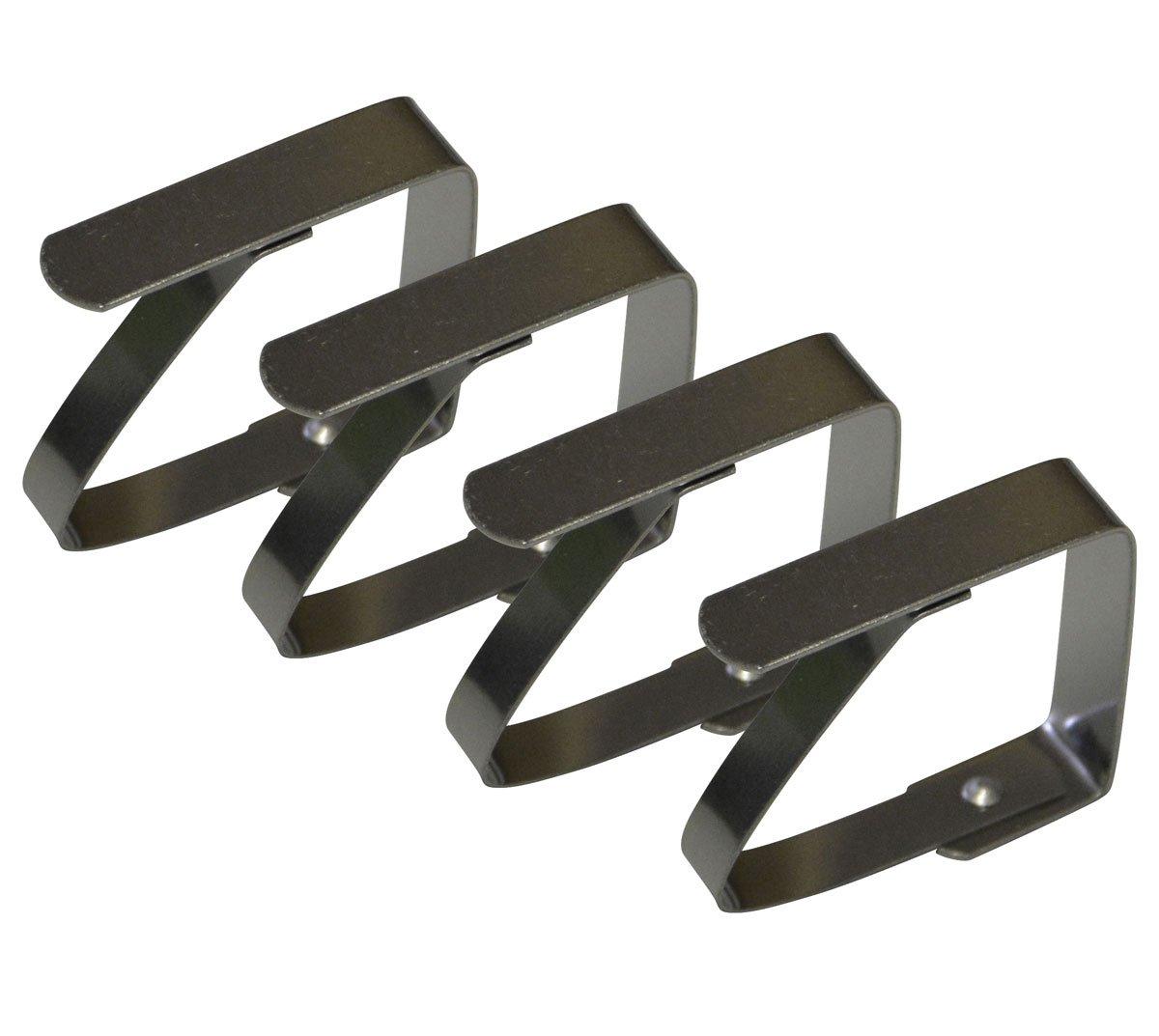 Fermatovaglia in acciaio inox per tavolo da giardino ecc. di fissaggio all-around24®