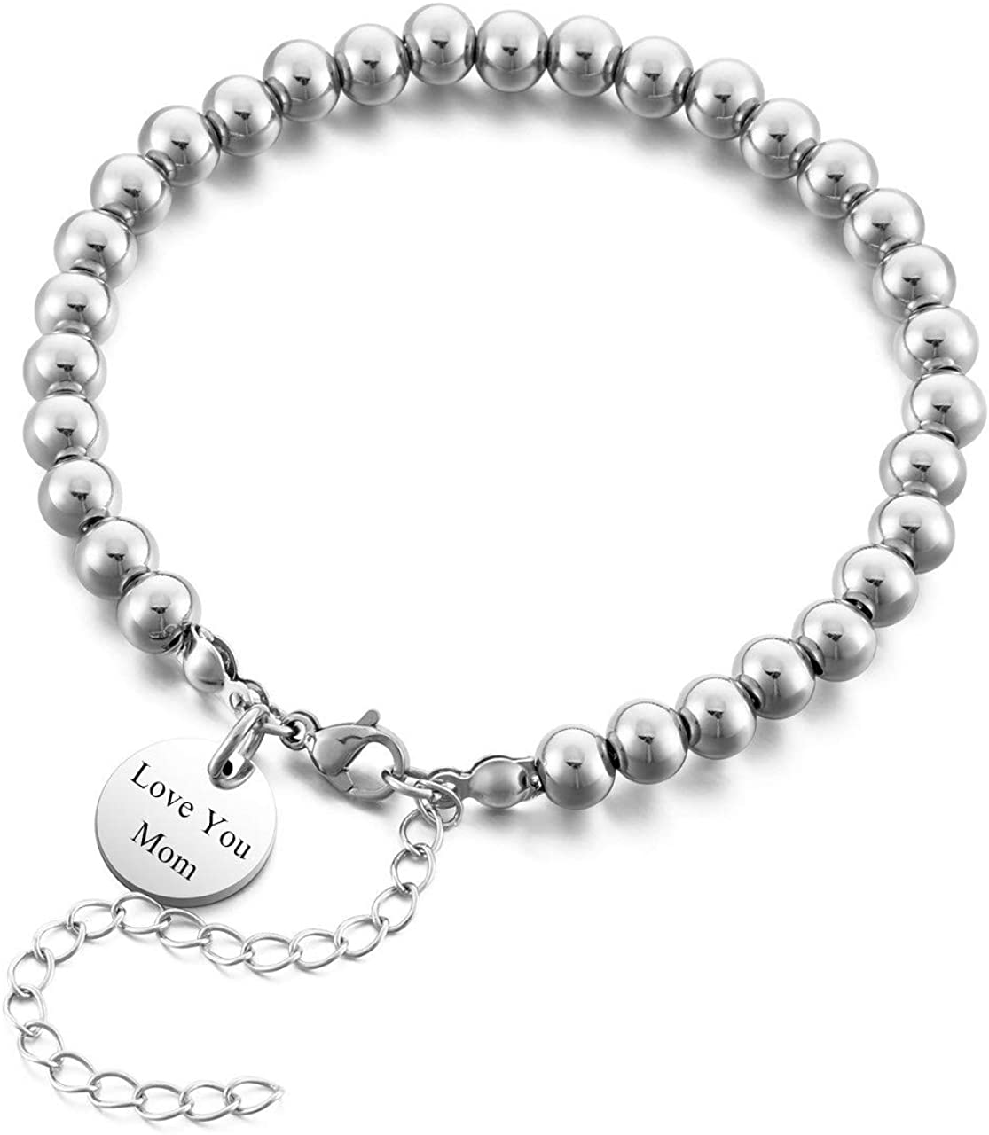 8mm Black Glass Pearl Necklace with Lobster Clasp Extension Chain
