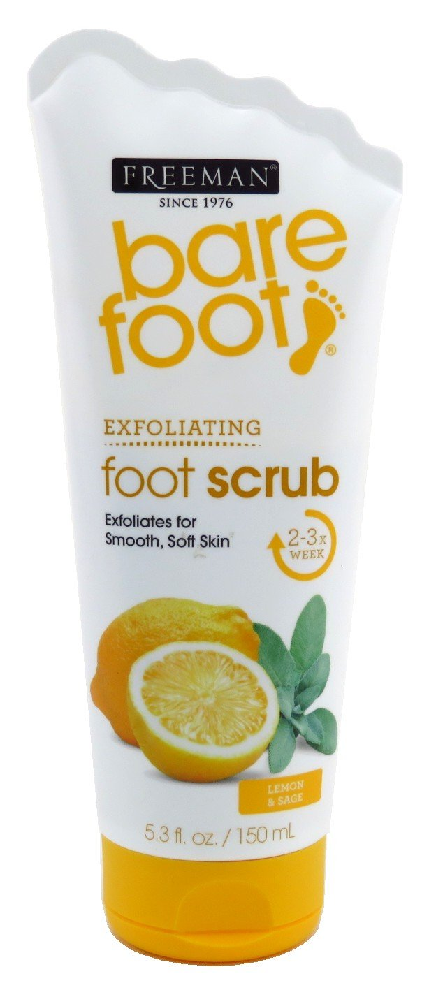 Freeman Bare Foot Scrub Lemon & Sage 5.3oz (Revitalizing) (3 Pack)
