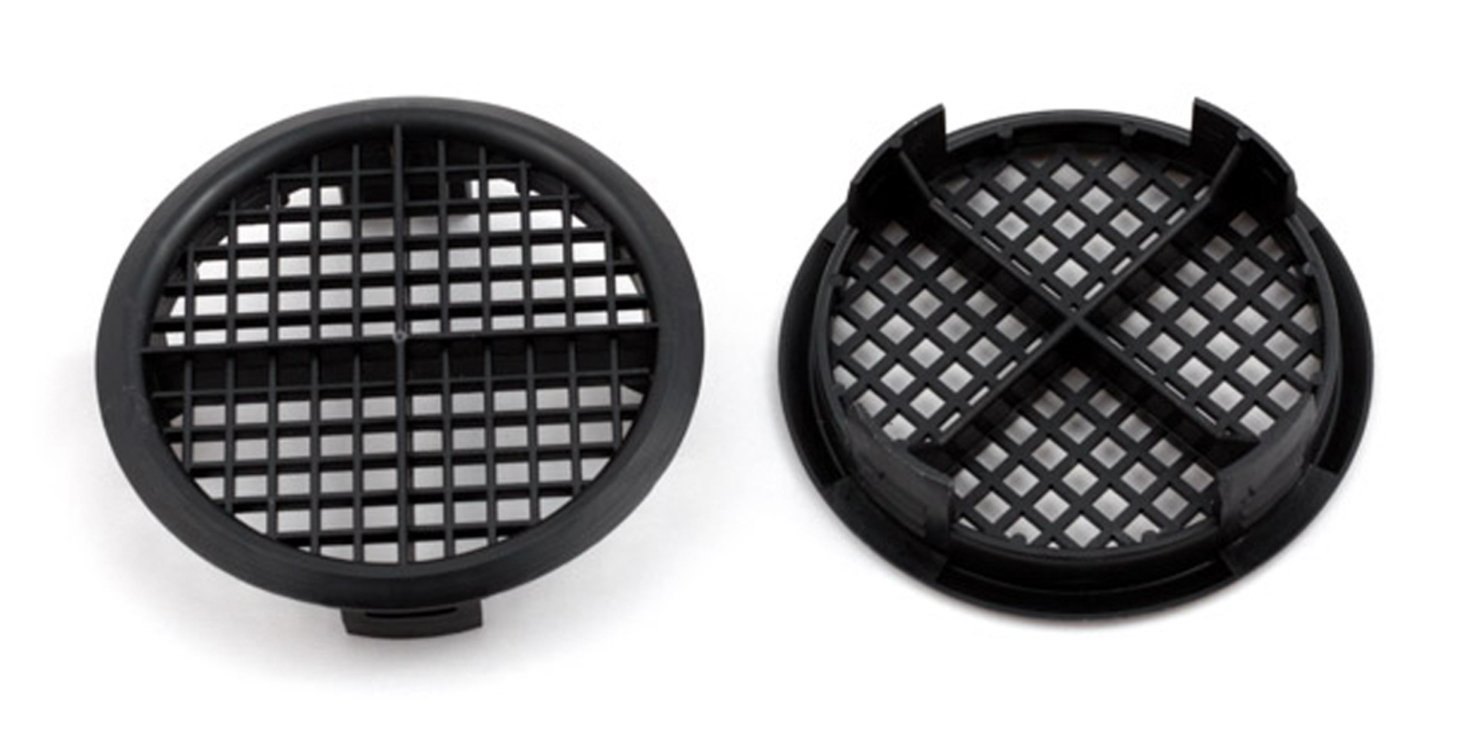 20 Number Black Plastic Round Push In Soffit Roof Vent Eaves Facia Airflow Ventilator 70mm 23/4' dia Timloc