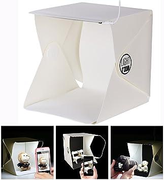 Cisixin Caja de Luz Fotografia portátil, Kit Estudio Fotografia con Dos Fondos Negro/Blanco: Amazon.es: Electrónica
