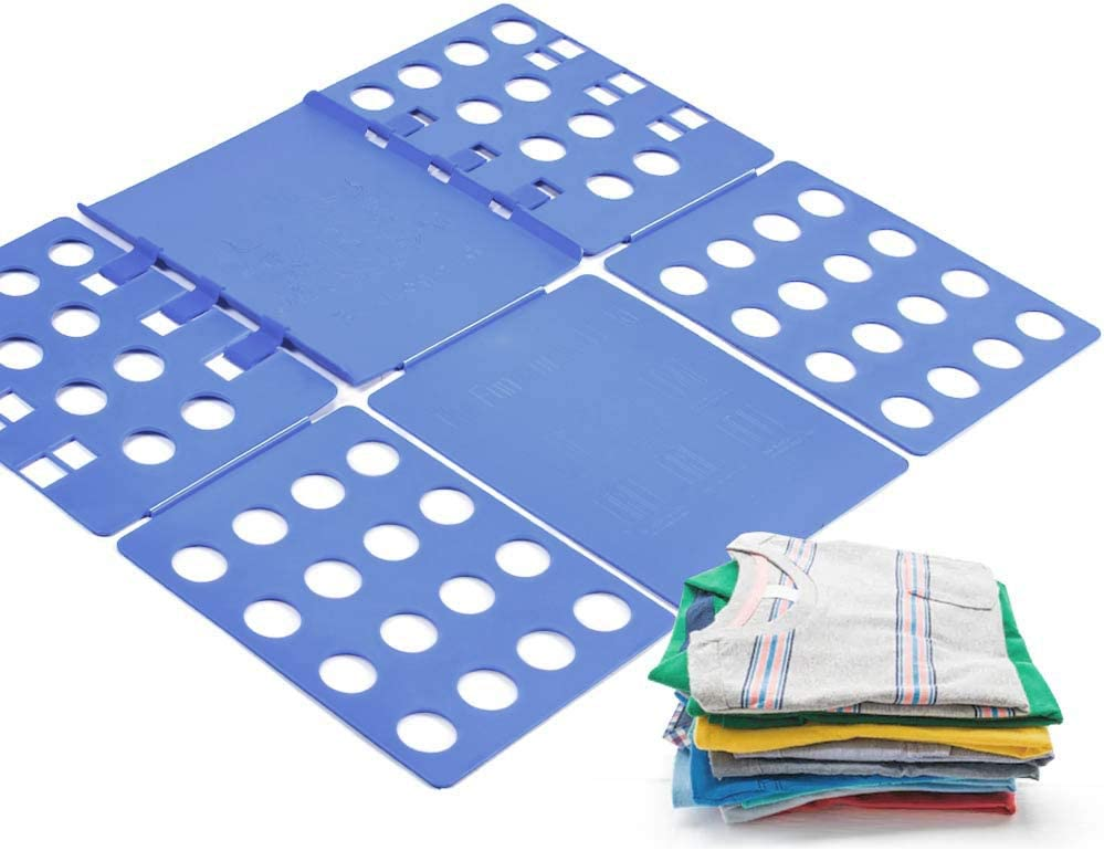 laundrytime V1 Tshirt Board t Shirt Folder Clothes flip fold Plastic flipfold Laundry Room Organizer, Blue B