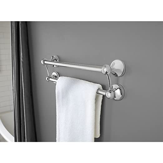 Amazon.com: Delta DF703PC 18 Inch Double Towel Assist Bar, Polished Chrome: Home Improvement